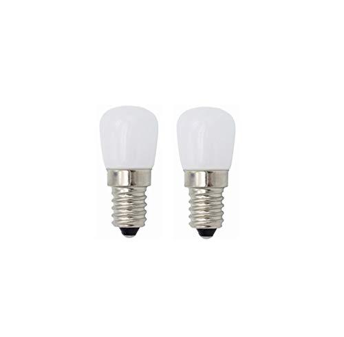 WELSUN Ampoules E14 LED 3W d'ampoules de réfrigérateur, Ampoules Vintages de LED pour Le réfrigérateur de réfrigérateur, Machine à Coudre, éclairage de hotte de cuisinière 220V 2pcs