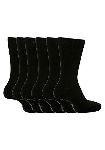 Gentle Grip 12 Paar Herren SockShop Baumwolle Socken Größe 6-11 uk, 39-45 EUR schwarz RG51