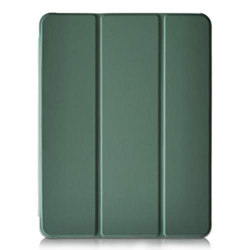 Thankscase Case for iPad Air 4th Gen/iPad 10.9-inch 2020, [Support Touch ID and iPad 2nd Pencil Charging/Pair], Slim Lightweight Trifold Stand Case with Translucent Frosted Back Cover (Army Green)