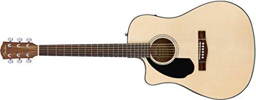 Fender CD-60SCE LH NAT WN · Guitarra acústica para zurdos