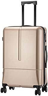 Trolley Case20 Inch Fashion Zipper Glossy Men's Suitcase Trolley Universal Wheel Personality Luggage,E,20inches