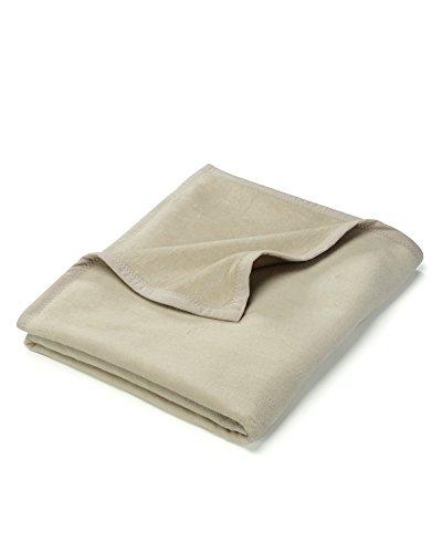 myHomery Uni Kuscheldecke - Decke fürs Sofa - Wolldecke warm & kuschelig - Sofadecke XL Beige | 150x200 cm
