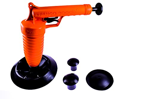 Red Tools RT50001 Pango Rohrreiniger 3000 mit WC-Adapter Das Original aus der TV-Werbung, Orange
