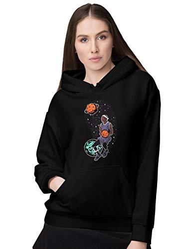 BLAK TEE Femme Outer Space Basketball Player Sweat a Capuche XL