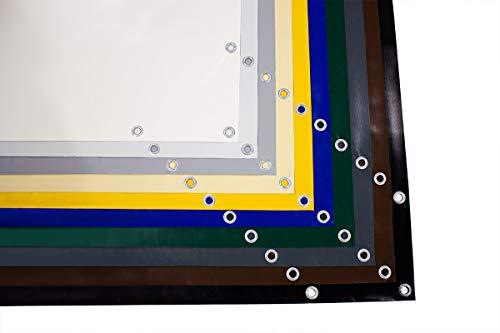 Bâche en PVC (720 g/m²) pour camion, avec œillets de 12 mm, différentes couleurs, sans ourlet (2,5 m x 10 m, gris clair RAL7035)