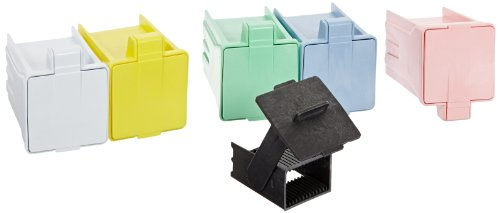 Simport EasyDip M900-12AS Acetal Slide Staining Jar with Rack, Assorted, 3' L x 2-1/2' W x 3-5/8' H