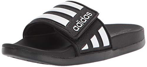 adidas Unisex-Child Adilette Comfort Slide, Black, 4