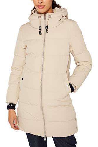 ESPRIT Damen 119EE1G014 Mantel, Beige (Beige 270), Large (Herstellergröße: L)