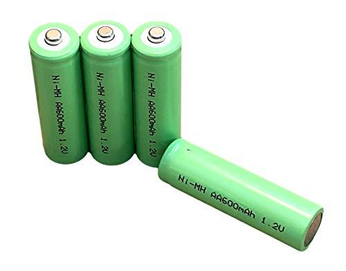 Dunamis 4pk AA Rechargeable Solar Light Batteries 1.2v NiMH AA 600mAh -...