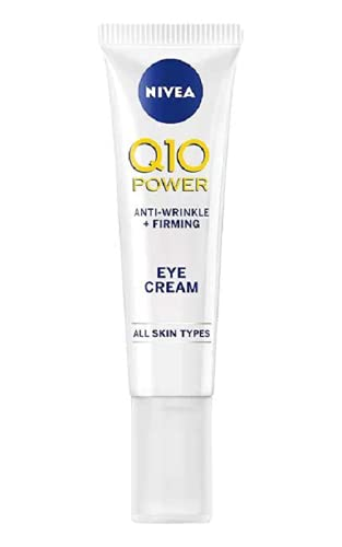 NIVEA Q10 Power Anti-Ageing Eye Cream with Anti-Wrinkle Firming Power (15 ml), Eye Cream for Lines and Wrinkles and Dark Circles, Powerful Under Eye Cream