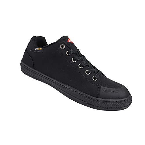 Lee Cooper LCSHOE149 Herren Damen Unisex Cordura Retro Arbeitssicherheit Turnschuhe Baseball Schuhe SB/SRA, Schwarz, Größe 3 UK/36 EU