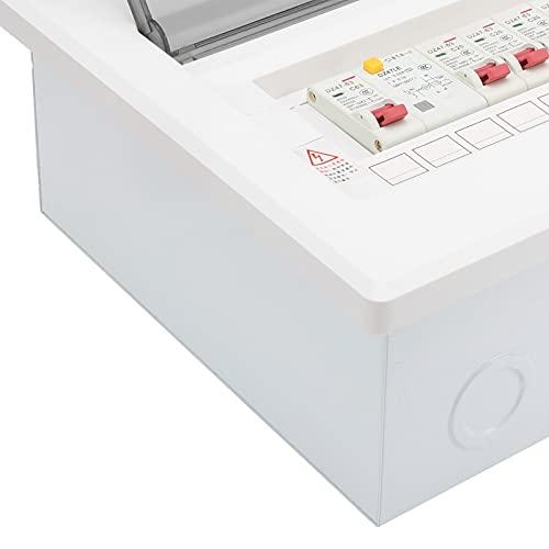 Caja de distribución Unidad de consumo, Caja de distribución eléctrica de 7 vías A prueba de polvo Hermoso diseño integrado y conveniente para interruptor de protección contra fugas