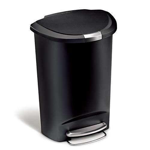 simplehuman 50 Liter/13 Gallon Semi-Round Kitchen Step Trash Can
