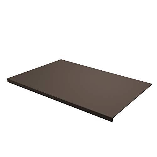 Eglooh - Talia - Protector Mesa Escritorio en Cuero Gris Topo cm 70x50 - Diseño Moderno, Antideslizante, Estructura Interna en Acero con Perfil Frontal en Forma de L - Made in Italy