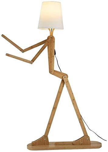 Forma humana de madera Luces de piso ajustable Lámpara de tela Multifunción soporte Lámpara Ropa Soporte E27 Decoración Estándar Lampcreative Lámpara de pie de la habitación