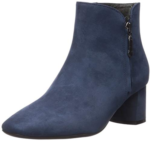 Marc Joseph New York Damen Leather Luxury Ankle Boot with Zipper Stiefelette, Nubukleder Eisblau, 40 EU