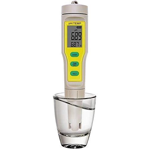 SZLX PH-03 Digital PH Meter 0.00~14.00 PH Indicator 2 in 1 Temp Acidity Tester Water Quality Monitor for Aquarium Pool Lab