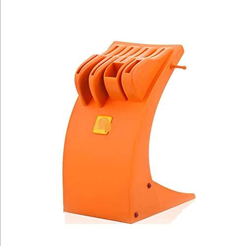 YLKCU Bloque de plástico para Cuchillos de Cocina, ventilado y fácil de Limpiar, Soporte para Utensilios de Cocina para el hogar, sin Cuchillos