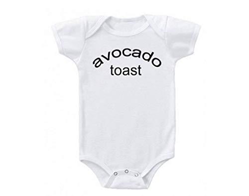 Promini Tostada de aguacate Brunch Snack Lunch Eats Issasnack Lindo Bebé Mono Regalo Camiseta Disfraz Bebé Bebé Body
