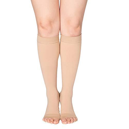 NIU-Mr Vorbeugung Gegen Krampfadern - Krampfadern StrüMpfe Ohne Fuß, Stützstrumpfhose Kniestrumpfe, FüR Krankenschwestern Geeignet Lehrer Schwangere (23-32 mmHg),Skin-2-L