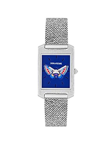 Reloj Zadig & Voltaire de acero para mujer, color plateado