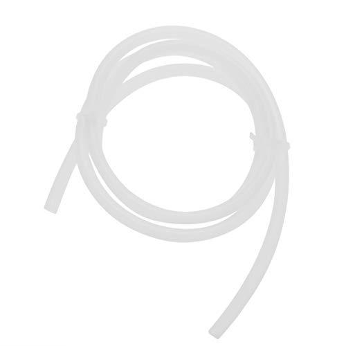 Hemobllo PTFE Teflon Bowden Tube tubo bianco Connettore per stampante 3D Filamento 3mm (4mm id x 6mm od) Confezione da 2