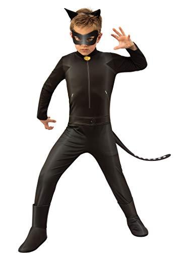 Ladybug - Disfraz de Cat Noir para niños, talla 5-6 años (Rubie