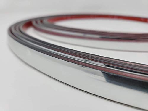 Universal Flexible Chrome Trim To Fit Molding Trim Kit 20 Foot Roll (5/8 inch...