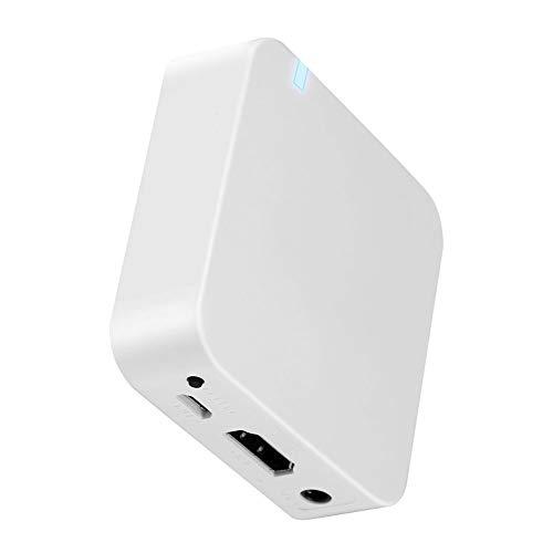 Scatola di visualizzazione WiFi per Auto, Scatola di mirroring Schermo Wireless AV + HDMI Mirroring Airplay da Smartphone a Schermo di Supporto per Auto Supporto Android/iOS con Uscita GPS CVBS/HD