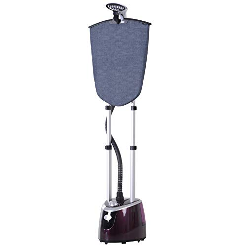 Défroisseur à vêtements 1800 W planche à repasser intégrée réservoir d'eau 2,8 L tige telescopique gant + cintre fournis violet