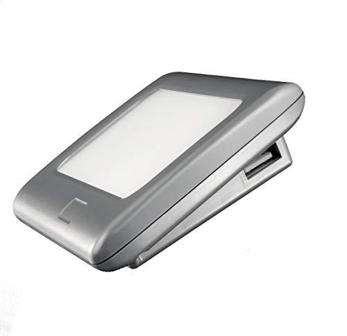 YMIR T01 - Lámpara LED de lectura/cortesía para interior de casa Multifunción: con 2 puertos USB para cargar smartphone/tableta. Encendido/apagado táctil. Luz natural (4500 K). Driver 20 W incluido