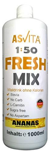 ASVita Fresh Mix 50 Vital Drink, Ananas, 1L Flasche