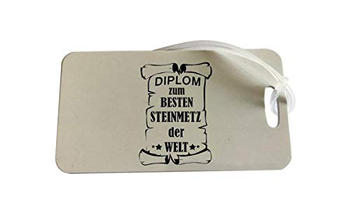 Diplom - Colgante para Maleta, diseño de Texto en alemán Diplom Steinmetz 75 x 140 mm