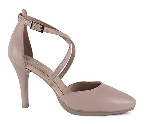 Chamby-Zapatos Abiertos Talon Tiras Cruzadas- 37