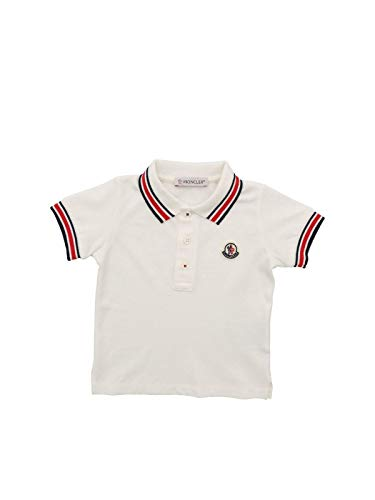 Moncler Luxury Fashion Baby 8A703208496F034 Weiss Baumwolle Poloshirt | Frühling Sommer 20