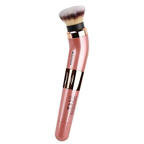 Pinceau De Maquillage électrique Rotatif, Pinceau De Maquillage Rotatif à 360 Degrés, Fond De Teint Synthétique Avancé Et Blush, Incluant 2 Têtes