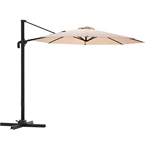 powerful Le Conte 10ft Offset Cantilever Patio Umbrellas Hanging Outdoor Umbrellas – 360 Degree Rotation…