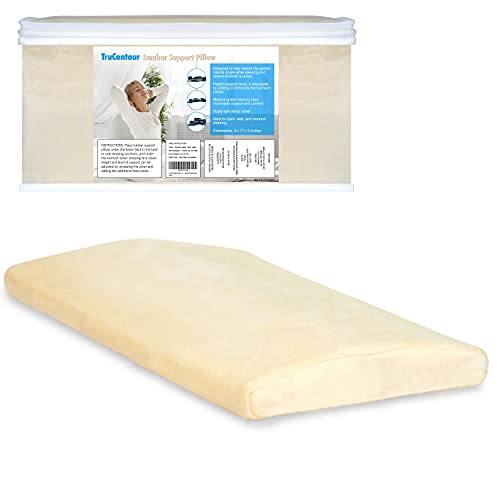 Lumbar Pillow for Sleeping, Lumbar Support Pillow for Bed, for Lower Back Pain While Sleeping, Adjustable Height, Includes Storage Case (Original)