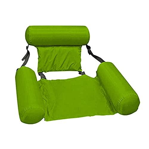 biteatey Salón de cama flotante, respaldo flotante Fila inflable Hamaca de agua para entretenimiento de agua reclinable Respaldo plegable Cama flotante Cama inflable ajustable al aire libre