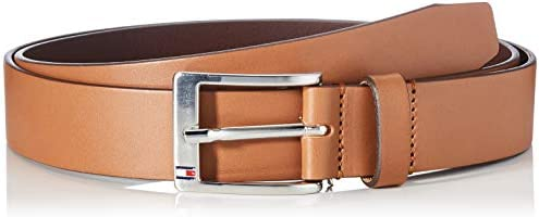 Tommy Hilfiger New Aly Belt, Ceinture Homme, Marron (Dark Tan)95cm