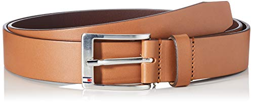 Tommy Hilfiger New Aly Belt, Ceinture Homme, Marron (Dark Tan)100cm