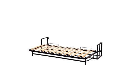 Wallbedking Classic Einzel WANDBETT (Quer) 90x200 (Klappbett, Schrankbett, Gästebett, Funktionsbett) Horizontal 90cm x 200cm