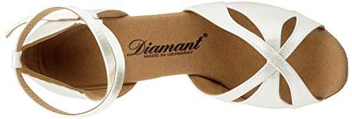 Diamant Damen 141-087-092 Standard-& Latintanzschuhe, Weiß (Weiß 092), 36 2/3 EU - 5