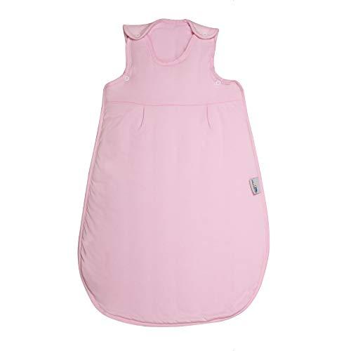 Schlummersack Saco de dormir para bebé durante todo el año, 70 cm, color rosa, saco de dormir para niña, saco de dormir de 2,5 tog, para todo el año, saco de dormir de algodón