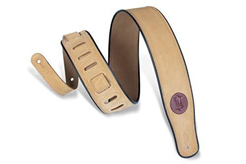 Levy's Gitarrengurt (Veloursleder) goldbraun