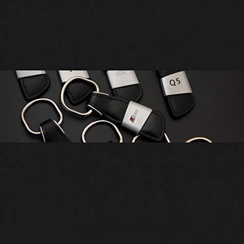 LBPLWY Keychain Llavero,Metal Car Logo Llavero Llavero Llavero Soporte Llavero para Audi RS Sline A3 A4 A5 A6 A7 Q3 Q5 Q7 S3 S4 S5 S6 TT Accesorios para Automóviles