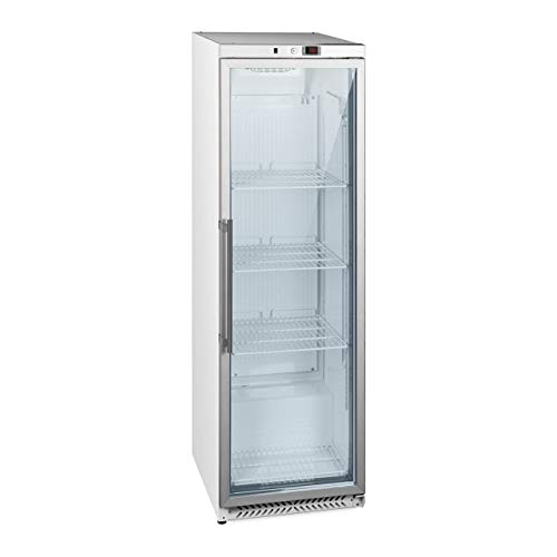 Royal Catering RCGK-W400 Vetrina Refrigerata Verticale Frigo Per Bibite Bevande Porta A Vetro (391 L, 215 W, 230 V, Doppio Vetro, 3 Ripiani, 0-8°C, Refrigerante R600A)