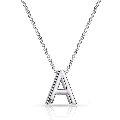 Initial Necklaces Created with Austrian Crystals - Letter A