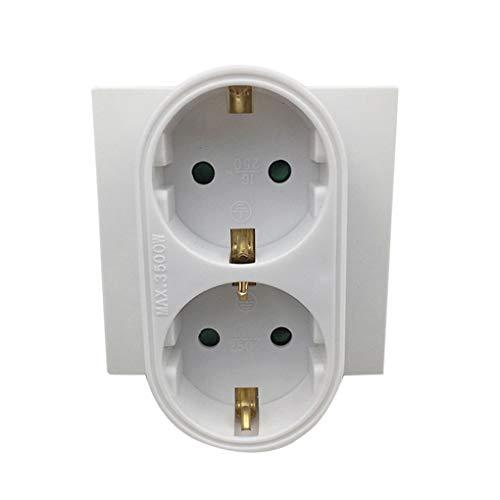 teng hong hui 1-Drag-2 16 A una Toma de Corriente del Divisor de la energía del Recorrido Divisor Outlet Retardante de Llama de la Pared del Enchufe de alimentación Adaptador convertidor
