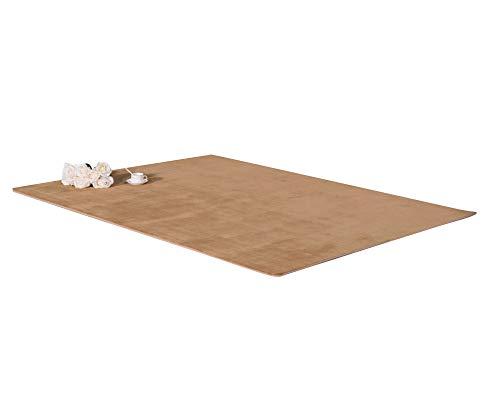 Hochflor Shaggy Teppich Wohnzimmer 5.5 cm Florhöhe Einfarbig Teppiche Khaki 60 * 160CM